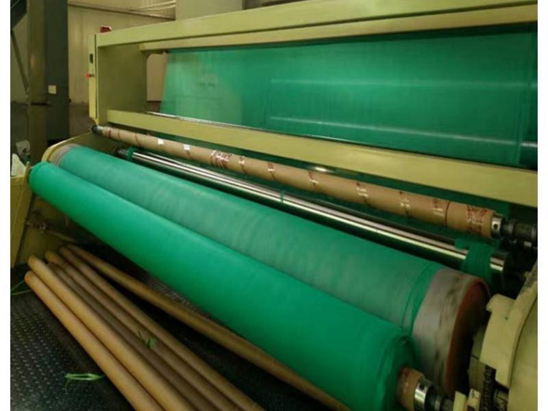 绿化防尘无纺布土工布生产中