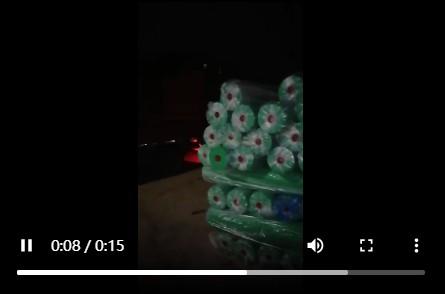 【视频】深夜往工地送土工布